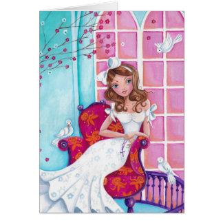 Première fille de communion carte de vœux