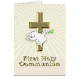 Première invitation de communion avec une croix