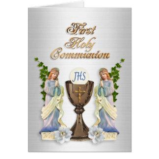 Première invitation de communion carte de correspondance