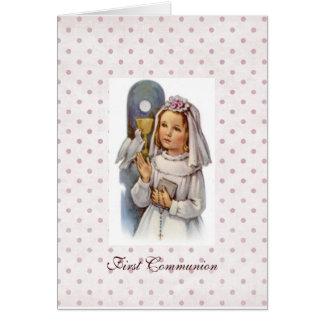 Première invitation de communion carte de vœux