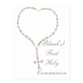 Première invitation de sainte communion carte postale
