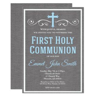 Première invitation de sainte communion, première