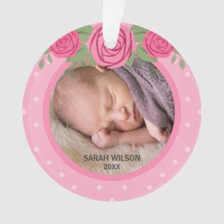 Première photo de Noël de polka de point du bébé