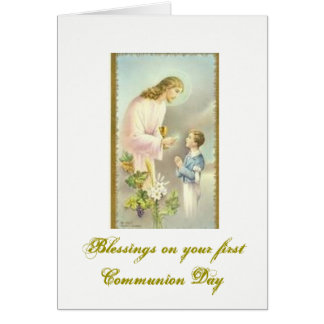 Première sainte communion - félicitations - carte de vœux
