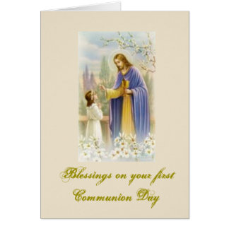 Première sainte communion - pour des félicitations carte de vœux