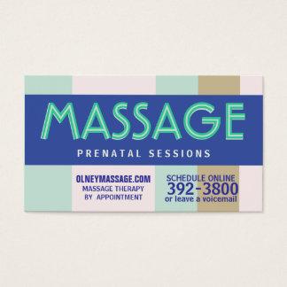 prenatale de massagepastelkleur van 2012 visitekaartjes