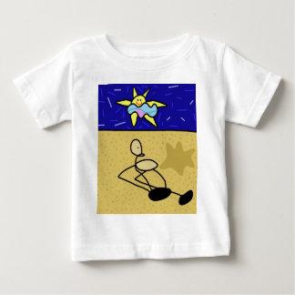 Prendre un bain de soleil t-shirt pour bébé
