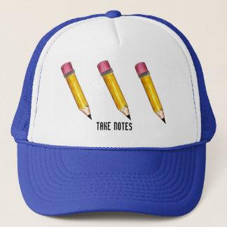 Prenez à des notes le casquette pointu de crayons