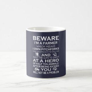 Prenez garde de moi suis un agriculteur mug