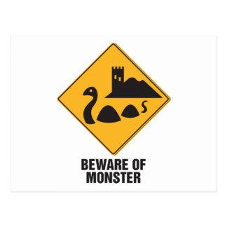 Prenez garde du monstre de Loch Ness Carte Postale