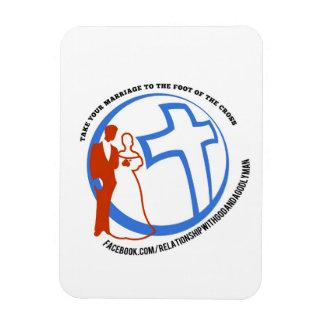 Prenez votre mariage au pied de la croix magnet en rectangle