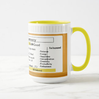 Prescription personnalisable RX de tasse de café