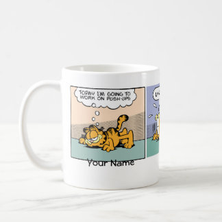 Présentation horizontale sur microfilm de Garfield Mug Blanc