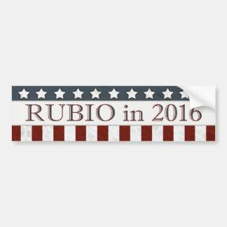 Président 2016 bannière étoilée de Marco Rubio Autocollant De Voiture