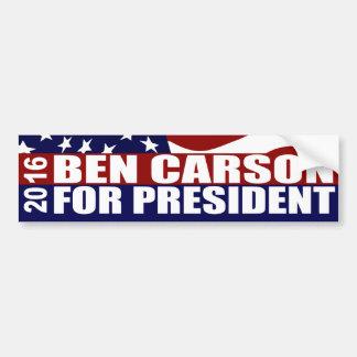 Président 2016 de Ben Carson Autocollant De Voiture