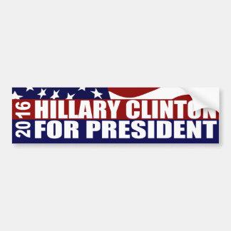 Président 2016 de HILLARY CLINTON Autocollant De Voiture