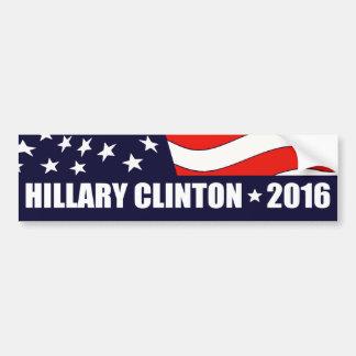 Président 2016 drapeau américain de Hillary Autocollant De Voiture