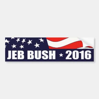 Président 2016 drapeau américain de Jeb Bush Autocollant De Voiture