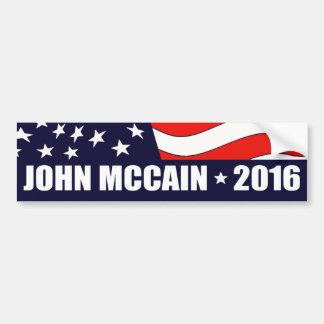 Président 2016 drapeau américain de John McCain Autocollant De Voiture