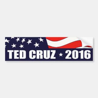Président 2016 drapeau américain de Ted Cruz Autocollant De Voiture