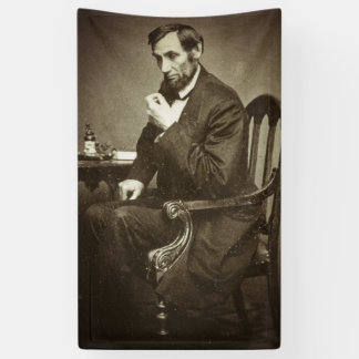 PRÉSIDENT ABRAHAM LINCOLN 1862 STEREOVIEW