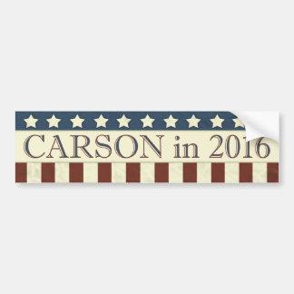 Président de Ben Carson en 2016 Autocollant De Voiture