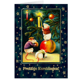 Prettige Kerstdagen. Nederlandse Kerstkaarten Briefkaarten 0