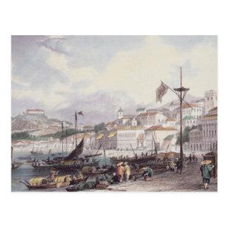 Pria grand, Macao, c.1850 (litho de couleur) Carte Postale