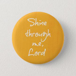 Prière chrétienne inspirée d'affirmation de badge rond 5 cm