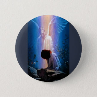 Prière d'ange badge rond 5 cm