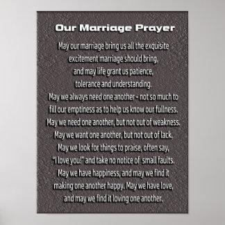 Prière de mariage -- affiche d'art poster