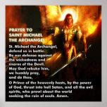Prière de St Michael Posters