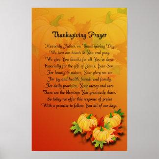 Prière de thanksgiving poster
