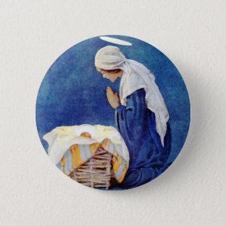 Prière et bébé Jésus de Mary Badge Rond 5 Cm