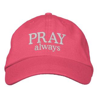 Priez le casquette chrétien toujours inspiré