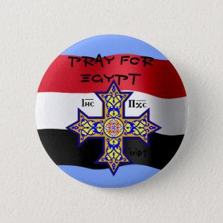 Priez pour la croix copte de l'Egypte - donnera le Badge Rond 5 Cm