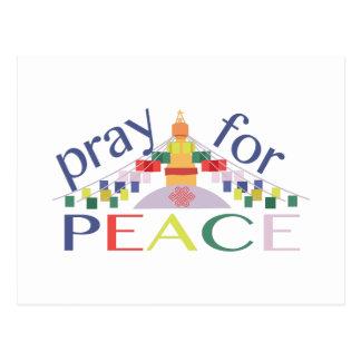 Priez pour la paix carte postale