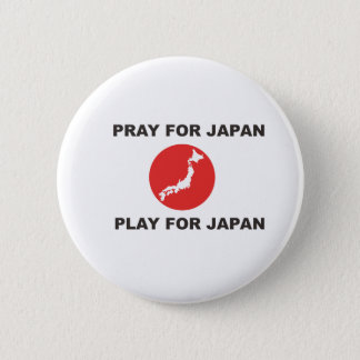 PRIEZ POUR LE JAPON, JEU POUR LE JAPON BADGE ROND 5 CM