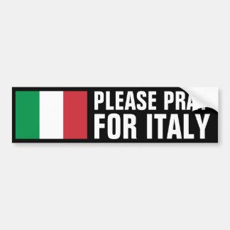 Priez pour l'Italie Autocollant Pour Voiture
