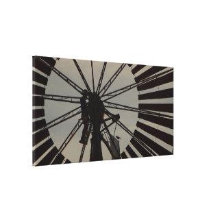 Prin de toile de silhouette de moulin à vent