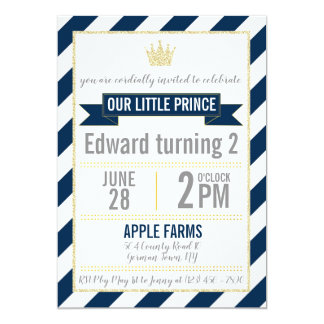 Prince Birthday Invitation de parties