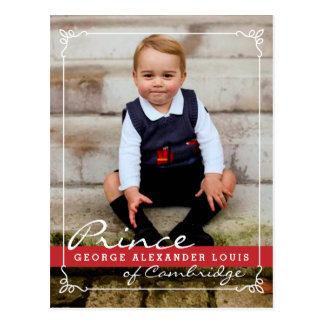 Prince George et prince William Carte Postale