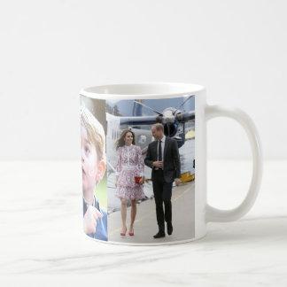 Prince George et princesse Charlotte et Kate de Mug Blanc