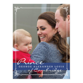 Prince George - William et Kate Carte Postale