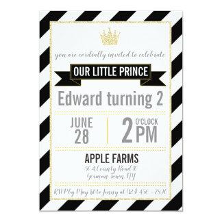 Prince noir Birthday Invitation de parties