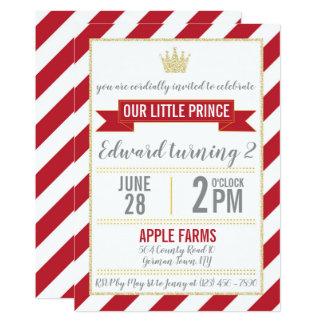 Prince rouge Birthday Invitation de parties