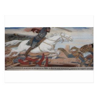 Prince Ukhtomsky dans la bataille avec des tartres Carte Postale