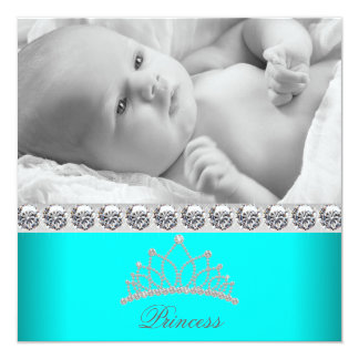 Princesse Baby Birth Announcements de diadème de Carton D'invitation 13,33 Cm