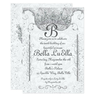 Princesse Bling Diamond Party Invitations