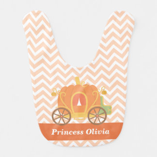Princesse Carriage Personalized Baby Bib de Bavoir De Bébé